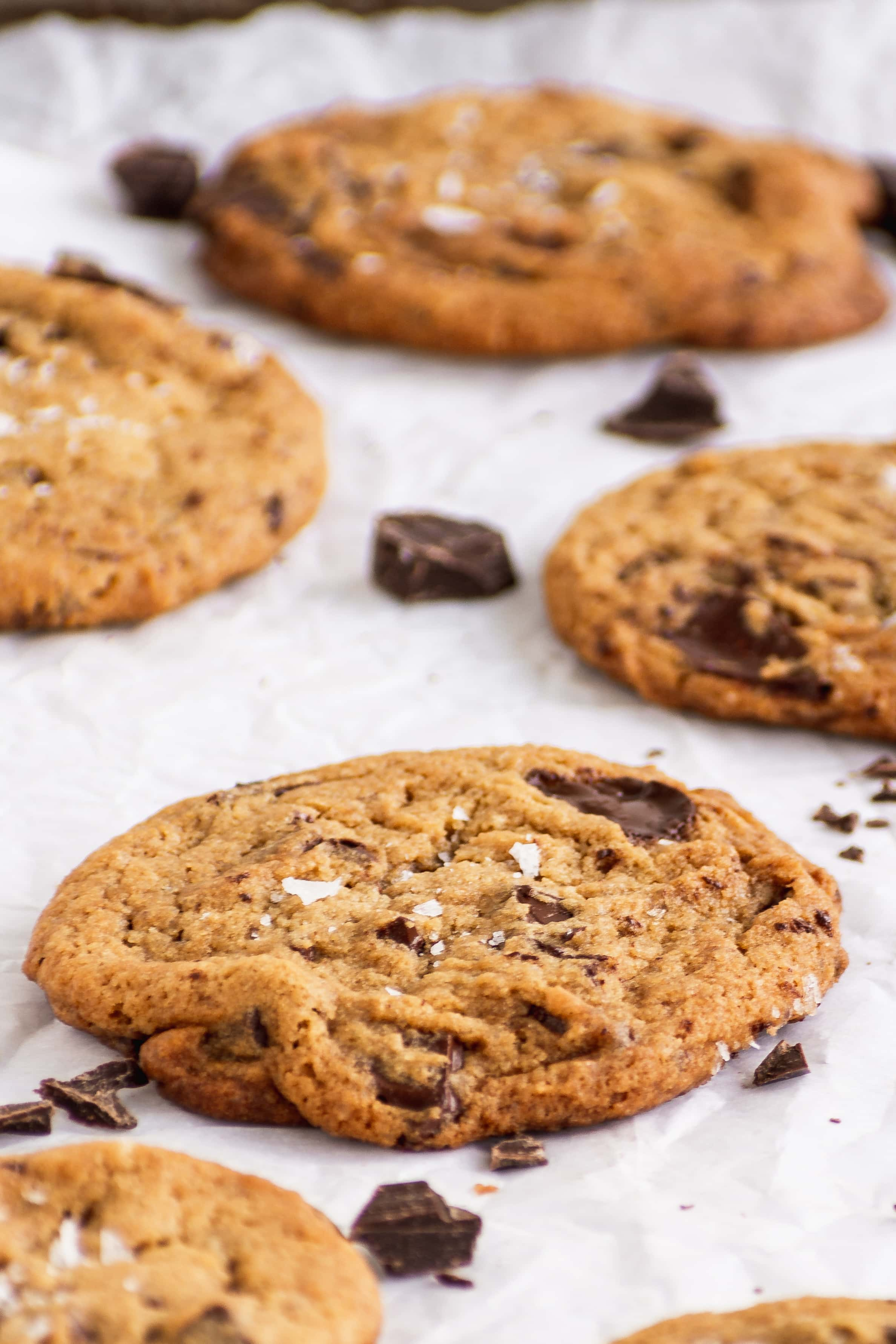 Chewy Vegan Chocolate Chip cookies Glamour shot