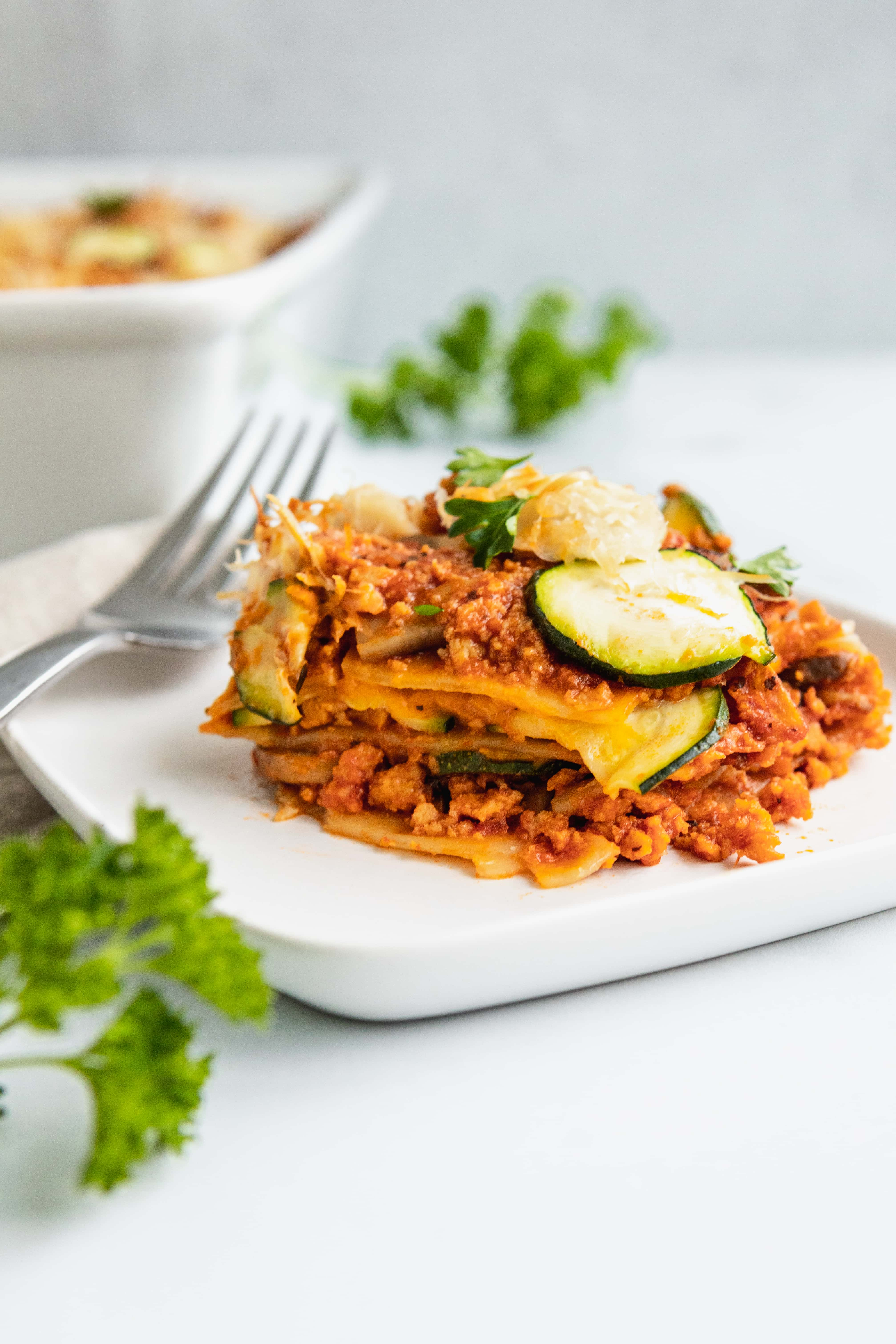 Dairy Free Lasagna Vegan Plant Based | The Hangry Chickpea