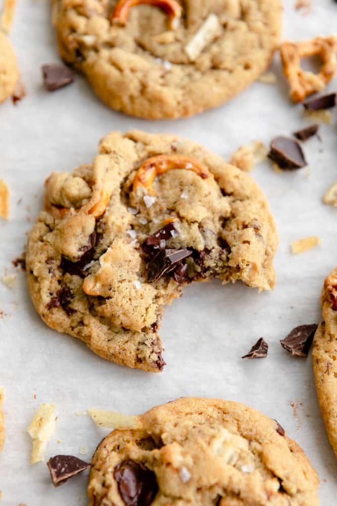 Vegan Kitchen Sink Cookie close-up
